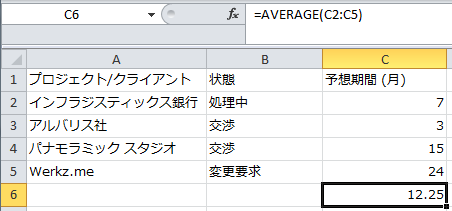 Result in Excel