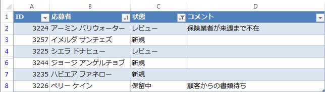 Result in Excel